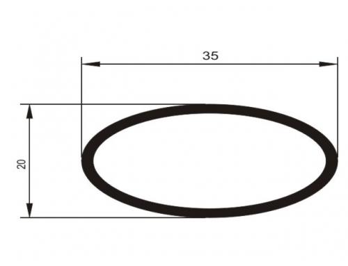 Tubo el�ptico 35 x 20 mm