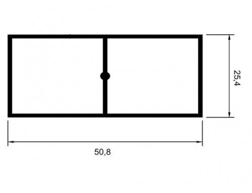 R�gua bitubular refor�ada 1� x 2�