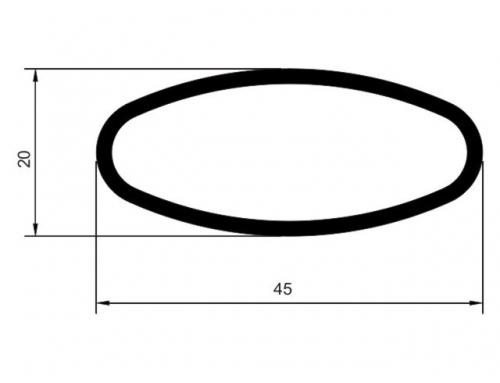 Tubo el�ptico 45 x 20 mm