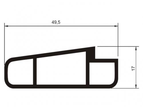 Tubo oblongo para mesa