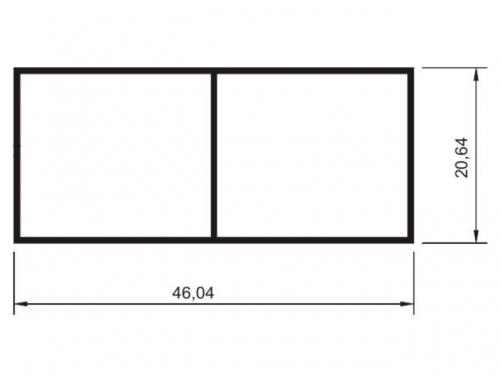 R�gua Bitubular Comercial 20 x 46 mm